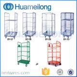 3 contenitori pieghevoli a uso medio del pallet del rullo del filo di acciaio dei lati