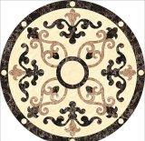 Medaglione Waterjet rotondo del mosaico del marmo del marmo del medaglione