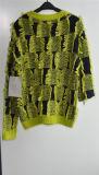 Ladies Winter 100% Acrílico Fancy Yarn Knit Pullover Sweater