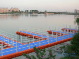 Ladrillo plástico el pontón del dique flotante del HDPE