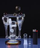 Doppelraum-Recycler-rauchendes Wasser-Glasrohr mit Bienenwabe (ES-GB-629)