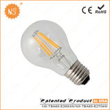 Ce RoHS A60 800lm Ra90 8W Filament Global Bulb LED Lampe