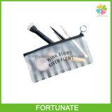 Paquete negro de la raya de esmerilado Ziplock plástico del cepillo bolsa de PVC