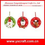 Decoración de la Navidad (ZY14Y76-1-2-3-4) Decoración de la Navidad de la suspensión del fieltro de la Navidad Material