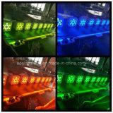 12X10W RGBWA 5in1 LED 건전지 무선 동위 반점 빛 결혼식