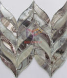 De Tegel van het Mozaïek van het Glas van de Vorm van het Verlof van het Knipsel van de Straal van het water (CFW51)