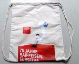 Sac estampé de sac à dos de toile de cordon de coton