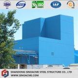 Edificio industrial del marco pesado de la estructura de acero con la galería