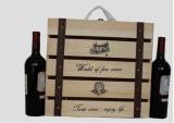 De Houten Doos van vier Flessen voor Wijn met het Ontwerp van het Embleem van de Douane
