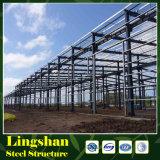 Estructura de acero constructiva de la fábrica