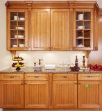 Il nuovo legno solido di disegno moderno ha celato la mobilia della cucina della trasparenza del cassetto
