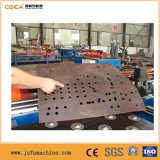 Máquina de perfuração da placa de aço do CNC e de marcação hidráulica