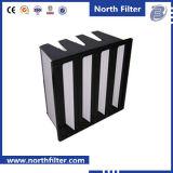 Medio ensamblado de purificación de aire Filtro Equipado con V-Bank