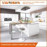 現代Handlessデザイン白く高い光沢のあるラッカー食器棚