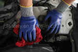 Blauer Sicherheits-Arbeits-Handschuh mit Nitril Dopping (ND6516)