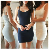 Mini vestito sottile Sleeveless di base da Bodycon