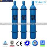 Bombola per gas ad alta pressione del cilindro di ossigeno con la valvola Cga540 e la protezione