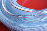 Mangueira trançada da irrigação da água da tubulação de mangueira de Reinforeced da fibra plástica do PVC