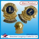 Weicher Emaille-MetallabzeichenPin, Zink-Legierungs-Goldmedaillen-Abzeichen (LZY-1000069)