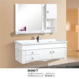 Vanité fixées au mur en bois blanches simples de salle de bains
