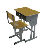 Mesa e cadeira a favor do meio ambiente da escola para crianças