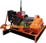 Argano diesel per il fante di marina, estrazione mineraria, costruzione, cavo d'acciaio Lumbering che tira con il freno