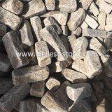 Strada privata europea di stile del granito giallo arrugginito che pavimenta granito Setts