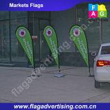 Флаг Teardrop летания пляжа упорного яркого цвета погоды изготовленный на заказ рекламируя