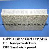El panel Pre-Laminado FRP grabado del panal de los PP para la casa prefabricada