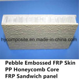 Painel Pre-Laminado FRP gravado do favo de mel dos PP para a casa Prefab