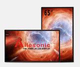 65-Inch LCD рекламируя игрока, Signage цифров