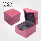 Caixa de relógio de madeira da cor nova da cor-de-rosa do projeto única