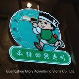 ライトボックスの店の前部アクリルの表記のハングのライトボックスの広告