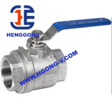 ANSI/DIN Pneumatic Roestvrij staal 3PC Thread Ball Valve