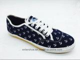 Zapatos impresos del ocio de los hombres del diseño del ancla con los cordones (ET-LH160317M)
