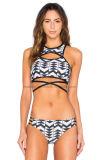 Heißer verkaufender schwarze weiße Dame-reizvoller Bikini