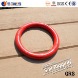 索具のハードウェアG80の赤い吹き付け塗装は金属の円形のリングを造った