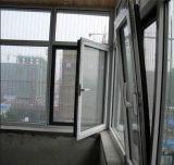 La alta calidad del impacto del huracán de aluminio Inclinar-Da vuelta a la ventana con el hardware de Roto