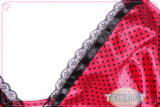 De Druk Babydoll van het Satijn van de Polyester van dames