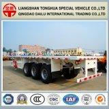 3 Semi Aanhangwagen van het Vervoer van de Container van assen 40FT Flatbed voor de Markt van Europa