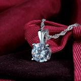 Collana Pendant di cristallo Coniglio-A forma di dell'argento sterlina di modo delle donne