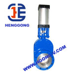 Válvula de porta dobro cerâmica pneumática do disco de DIN/API Wcb