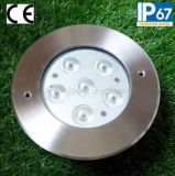 6W giardino rotondo Lights (JP82661) del CREE LED Inground