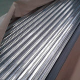 los azulejos de material para techos de 0.12mm-0.8m m galvanizaron la hoja de acero acanalada