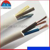 Fil électrique avec les conduites en aluminium plaquées de cuivre, fil d'isolation de PVC, fil plat de gaine