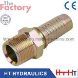 Ajustage de précision de tuyau d'acier du carbone de SAE/BSPT/adaptateur hydrauliques inoxidables (10511)