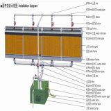 Garniture de refroidissement par évaporation pour le système de ventilation en serre chaude