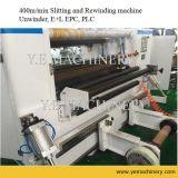máquina de Rewinder da talhadeira da etiqueta da película plástica do controle do PLC 400m/Min