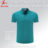 Healongの卸し売りカスタム方法昇華無地はデザインTシャツのポロを追加する