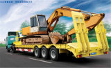 Construction Machinery 3 Axle 60ton Low Bed Semi-Trailer